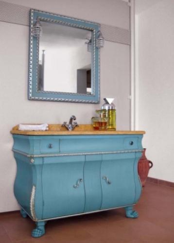 Голубая мебель для ванны сантехника цены на кухню